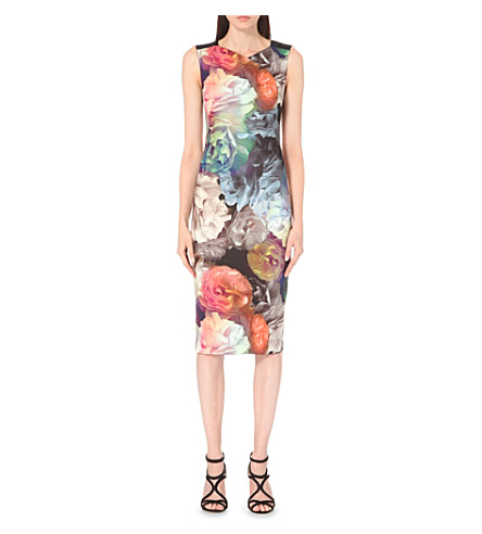 TED BAKER - Mayzi floral-printed midi dress | Selfridges.com