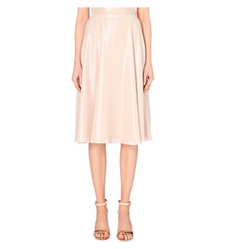 TED BAKER Metallic midi skirt (Shell