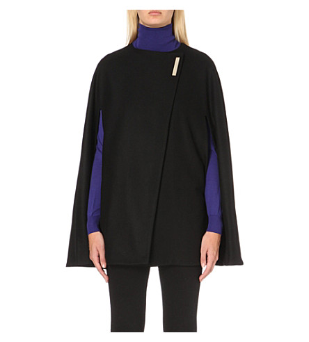 TED BAKER Vickiye wool-blend cape (Black