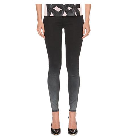 TED BAKER Ombré skinny mid-rise jeans (Black