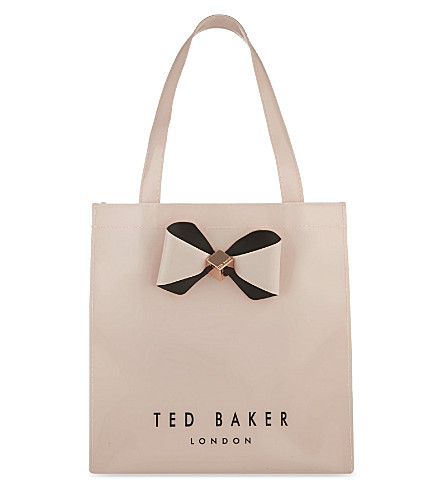 TED BAKER Small bow trim shopper (Pink