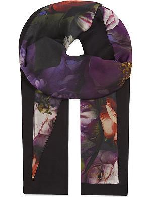 TED BAKER Shadow flora split scarf