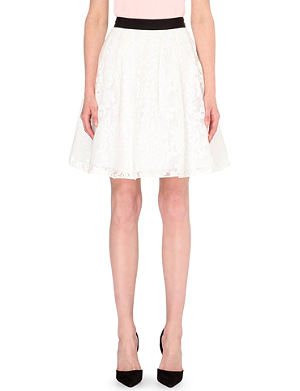 TED BAKER Totie floral-lace skirt