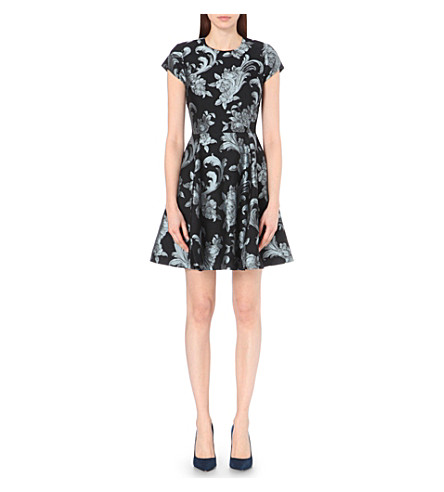 24f1085fa568 ... TED BAKER Danetia scroll-print jersey dress (Black. PreviousNext