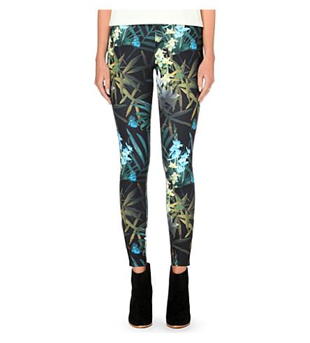 TED BAKER Thirza Twilight Floral leggings (Black