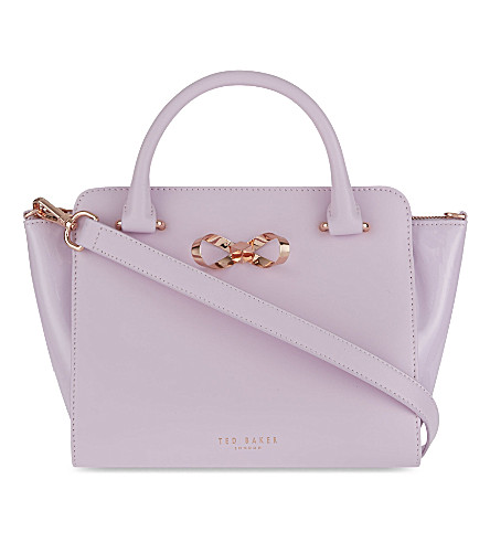 TED BAKER Loop bow leather tote (Pale pink