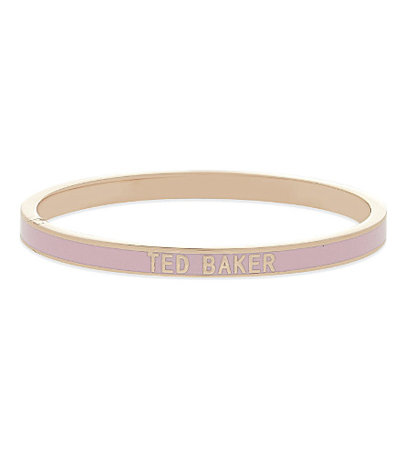 TED BAKER Enamel bangle (Baby pink