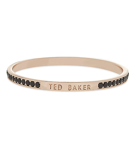 TED BAKER Clem narrow crystal bangle (Black