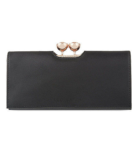 TED BAKER Crystal leather matinee purse (Black