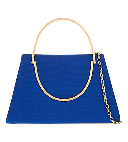 TED BAKER Rosie satin clutch (Bright blue