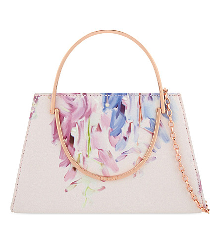 TED BAKER Cindy Hanging Gardens clutch (Baby pink
