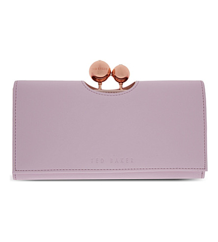 TED BAKER Harrien leather matinee purse (Lilac