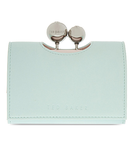 TED BAKER Lillae small leather purse (Mint