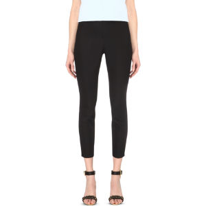 Caycit slim-fit high-rise stretch-crepe trousers