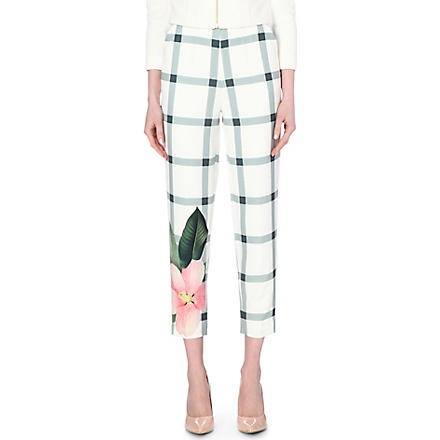 Ted Baker: Anmar straight stretch-crepe trousers - Hiphunters Shop