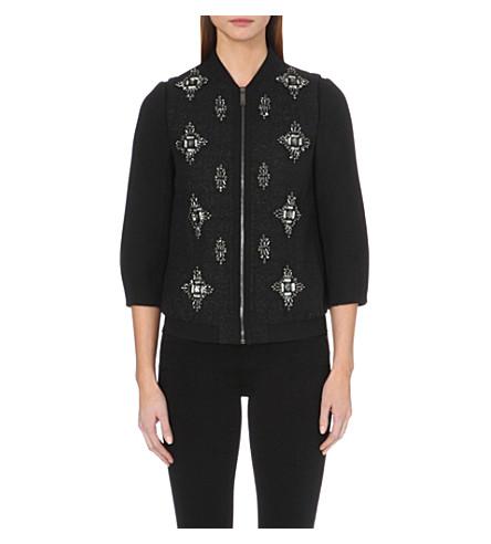 TED BAKER Embellished bomber jacket (Black