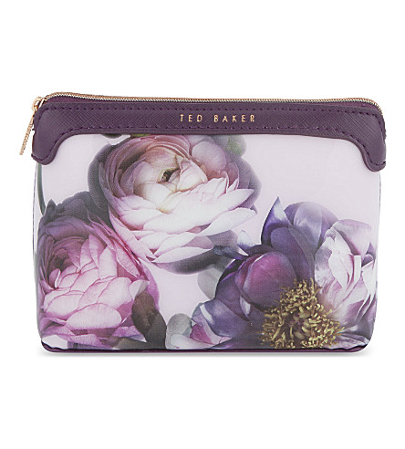 TED BAKER Eirril Sunlit floral make up bag (Pale pink