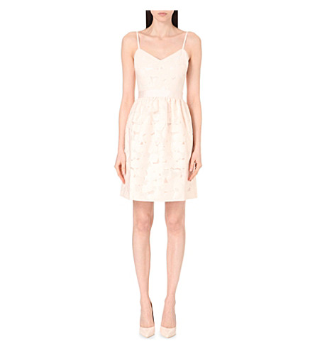 TED BAKER Quancie cotton-blend dress (Nude pink