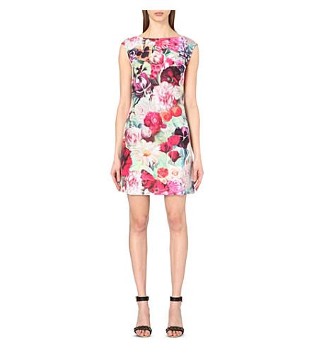 891f9e89d ... TED BAKER Floral Swirl-print woven tunic dress (Fuchsia. PreviousNext