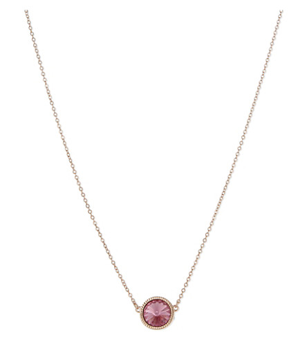 TED BAKER Rivoli swarovski crystal necklace (Light+pink