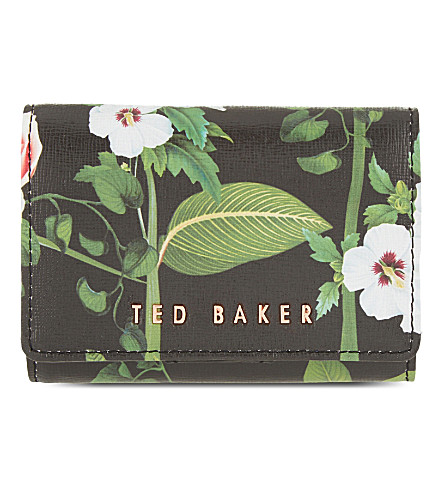 TED BAKER Secret Trellis mini leather purse (Black