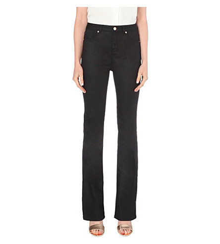 TED BAKER Balima flared high-rise jeans (Rinse+denim