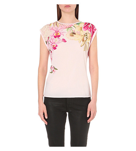 Ted baker catlee floral print t shirt for Ted baker floral print shirt
