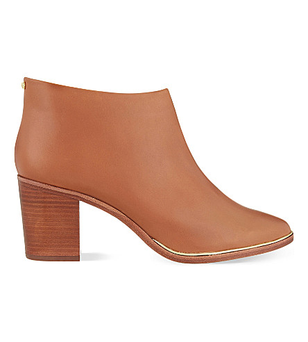 TED BAKER Hiharu heeled leather ankle boots (Tan