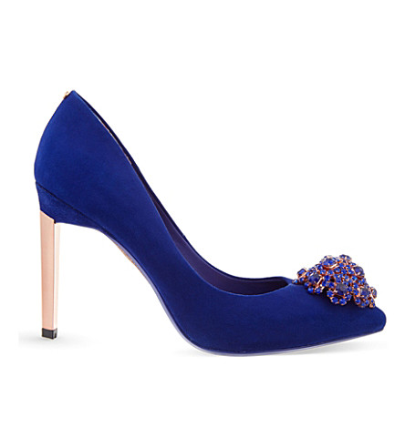 TED BAKER Peetch suede courts (Blue
