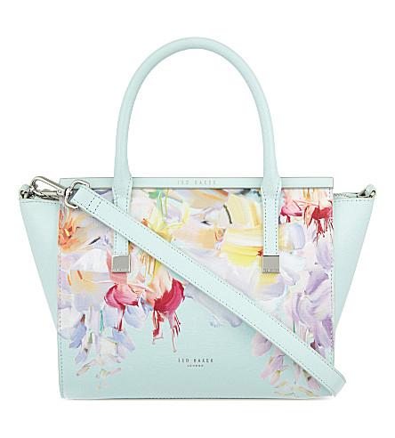 TED BAKER Honora Hanging Gardens leather shoulder bag (Mint
