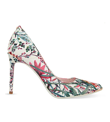 TED BAKER Floral-print courts (Nude pink