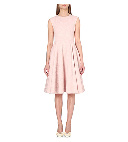 TED BAKER Embroidered floral lace dress (Pink