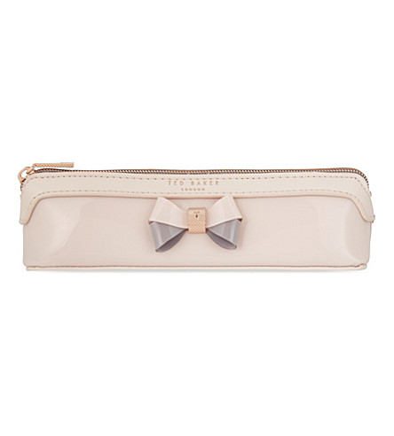 TED BAKER Valda bow pencil case (Pale+pink