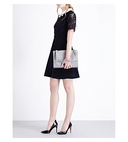 080086476 TED BAKER Dixxy lace double layer mini dress (Navy