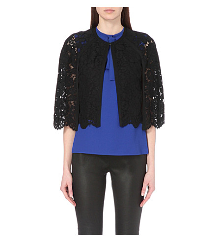 TED BAKER Scalloped lace cape (Black