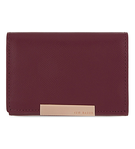 TED BAKER Marged small leather purse (Grape