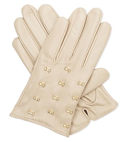 TED BAKER Ailara leather gloves (Camel