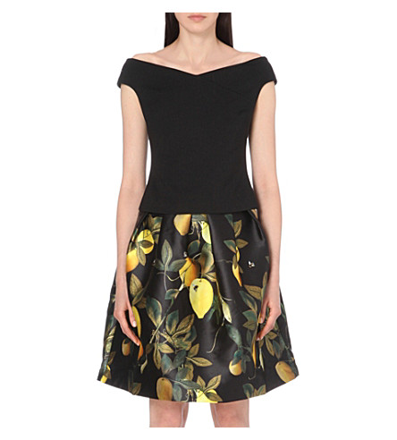 TED BAKER Bardot jersey top (Black
