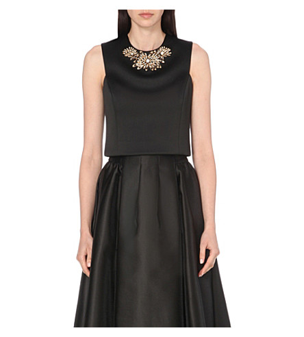 TED BAKER Jaby satin top (Black