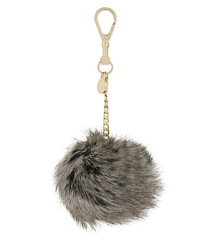 11cf0ffdd5 ... TED BAKER Ren Faux fur bag charm (Mink. PreviousNext