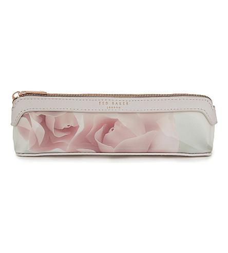 TED BAKER Kelssa Porcelain rose pencil case (Nude pink