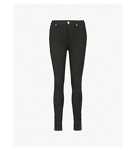 TED BAKER Fioni skinny mid-rise jeans (Black