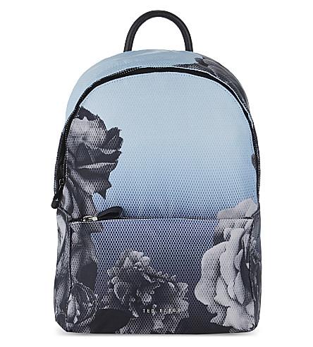 ted baker mariesa blue bloom print backpack. Black Bedroom Furniture Sets. Home Design Ideas