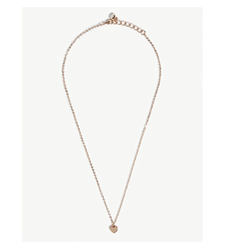 TED BAKER Hara heart pendant necklace (Rosegold+col