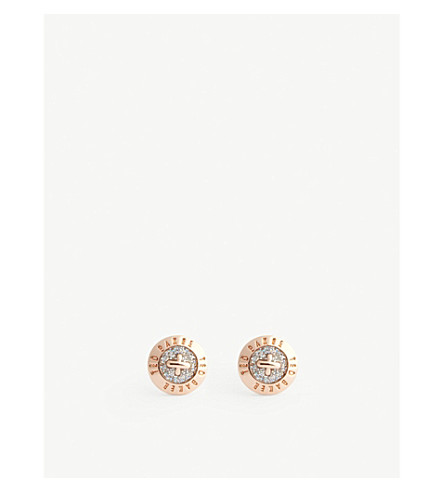 TED BAKER Eisley enamel mini button earrings (Assorted