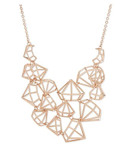 TED BAKER Joni gem frame necklace (Rosegold col