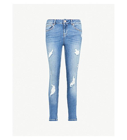 TED BAKER Kimle skinny mid-rise jeans (Mid+blue