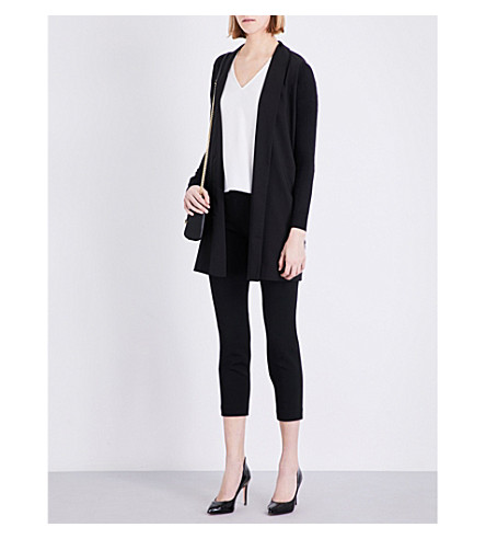 TED BAKER Open-front knitted cardigan (Black