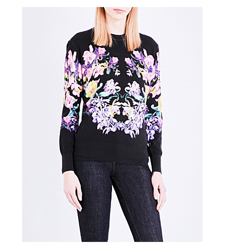 TED BAKER Lost Gardens knitted jumper (Black