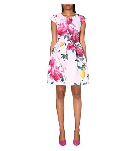 6405c52d7e165c TED BAKER Citrus bloom woven dress (Pink